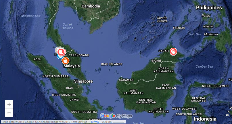 Malaysian Ghost Research: Ghost Research Map History on