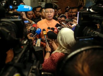 The United States Department of Justice has been investigating Prime Minister Najib Razak of Malaysia for corruption for over a year. Credit European Pressphoto Agency