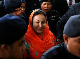 Rosmah Mansor arrives in court in Kuala Lumpur Malaysia on Thursday. PHOTO Reuters