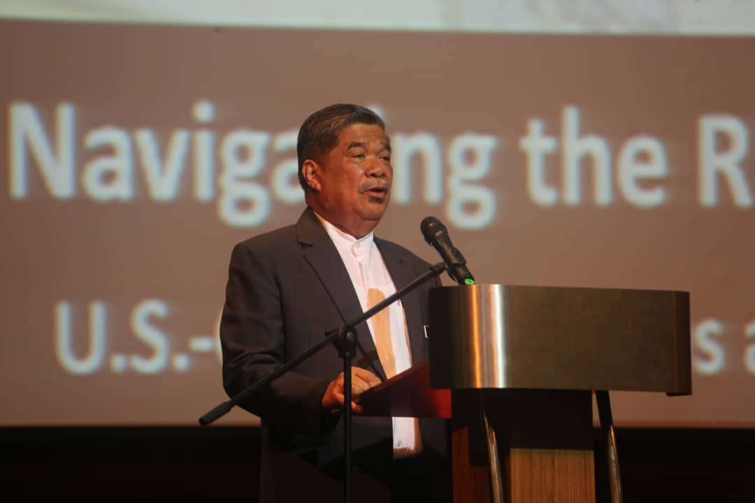 Mohamad Sabu addressing the dialogue session at Wisma Perwira on Tuesday Jan.22