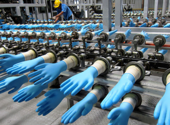 Malaysian rubber gloves Pic ABC