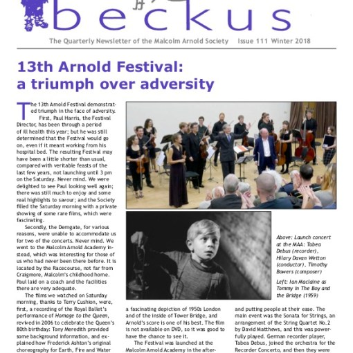 Beckus 111 Malcolm Arnold Society