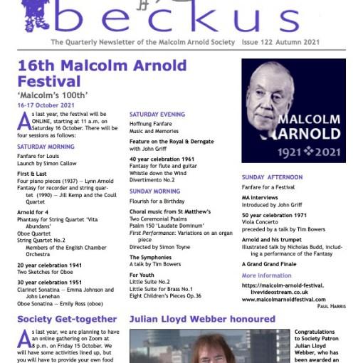 Beckus 122 Malcolm Arnold Society