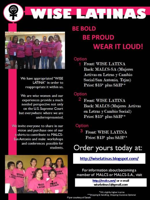 Click to order a Wise Latina t-shirt
