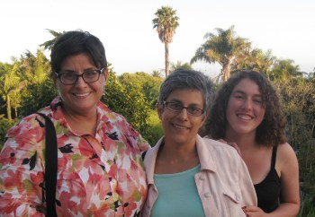 Annemarie Perez with Karen Mary Davalos and Karen Mary's daughter