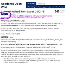 Wiki jobhunter page