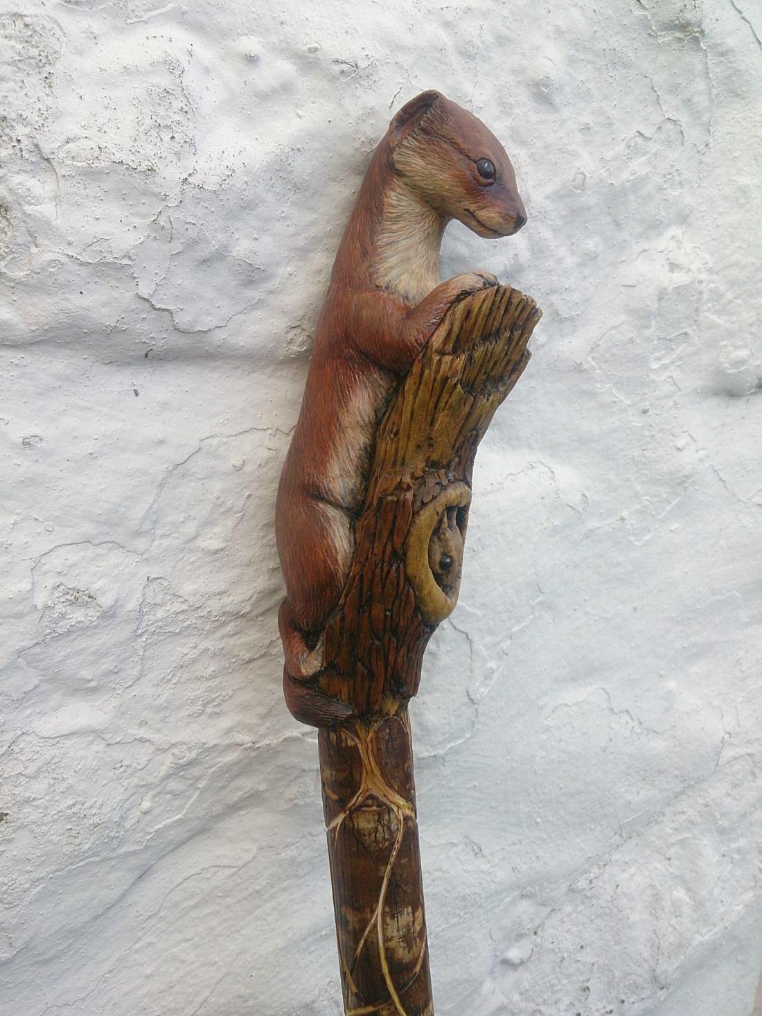 Fancy walking sticks staffs malc spour art hand