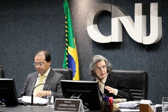 Ministra Cármen Lúcia, Presidente do CNJ, e José Bonifácio Borges de Andrada, Vice Procurador-Geral da República