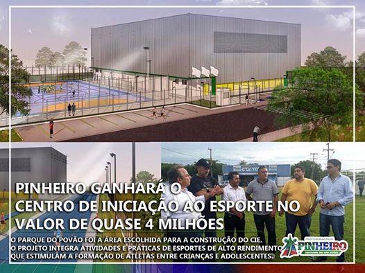 Pinheiro ganhará centro de iniciação ao esporte