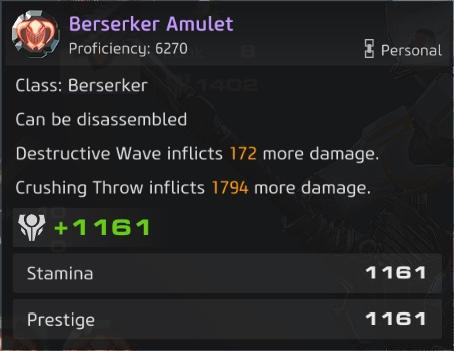 Skyforge - Berserker PVE Build Guide Amulet