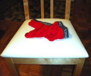 underwear on chair