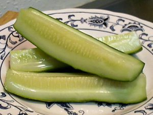 pickle on plate