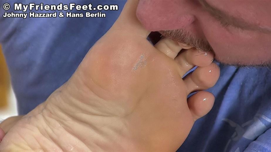 Hans Berlin sucks on Johnny Hazzard's toes - My Friends' Feet