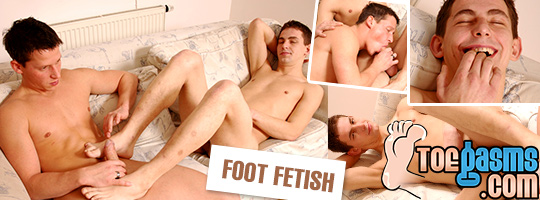 Toegasms - gay foot fetish banner