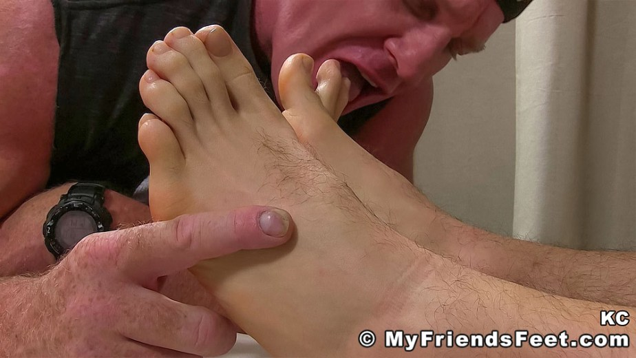 Dev sucks on KC's size 11 toes - My Friends' Feet - male foot fetish porn