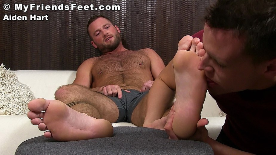 Nathan worships Aiden Hart's feet for My Friends Feet