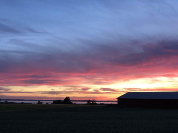 Auringonlasku Örenäs Slottilla