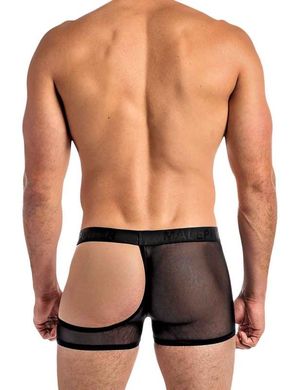 Eclipse Mesh Half Moon Short mens sexy lingerie underwear