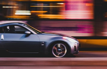 Fast Car with Motion Blur