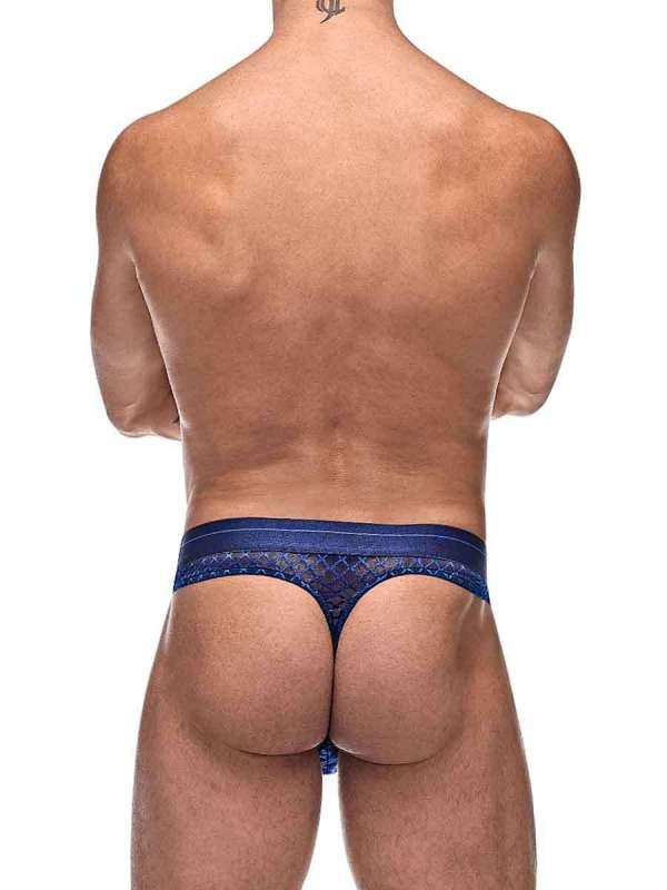 mens thong underwear mesh navy