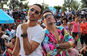 Men together at a festival
