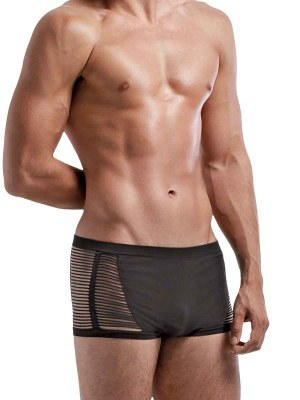 Seamless Open Blind Short Black