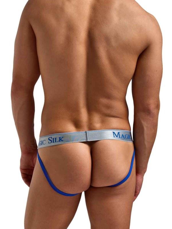 Silk Knit Jock Strap Blue