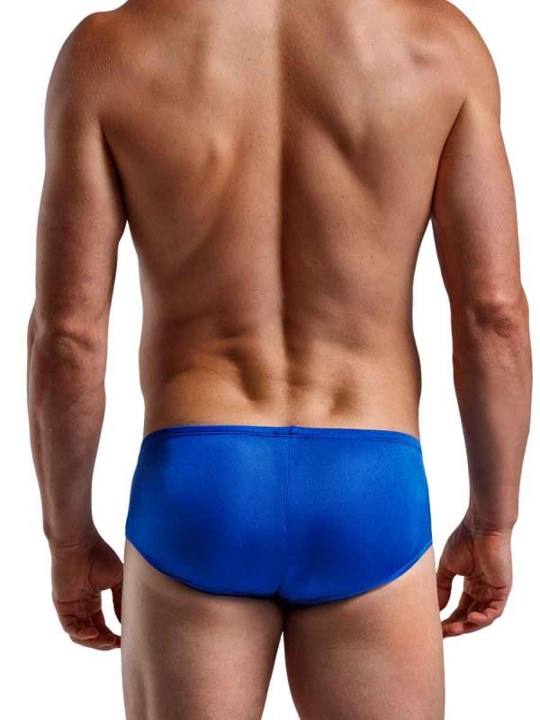 Silk Knit Mini Pouch Short Blue