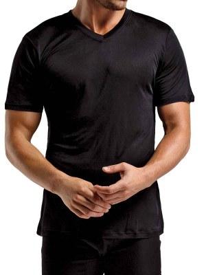 Silk Knit V Neck T-Shirt