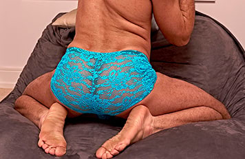 Male Power Bright Blue Lace Shorts