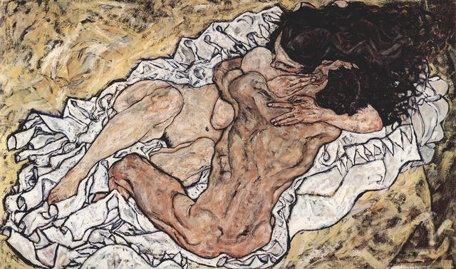 Egon Schiele: Die Umarmung (Die Liebenden)