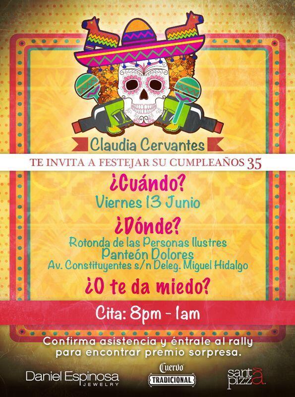 Invitación Claudia Cervantes
