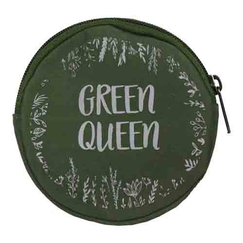 round green coin purse
