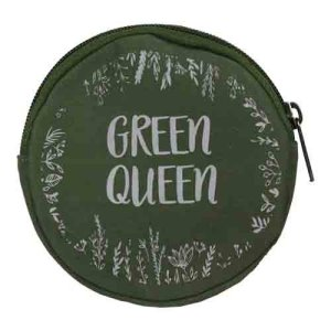 round green coin purse
