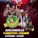 Evento: Anonimus Y Clandestino & Yailemm @ Logan's Irish Pub (8 de Junio)