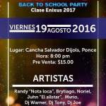 El tremendo party back to school en Ponce