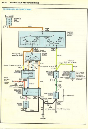 I need the wiring schematics for AC Compressor