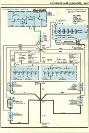 38 to 350 SBO swap gauge wiring question  GBodyForum  '78'88 General Motors AGBody Community