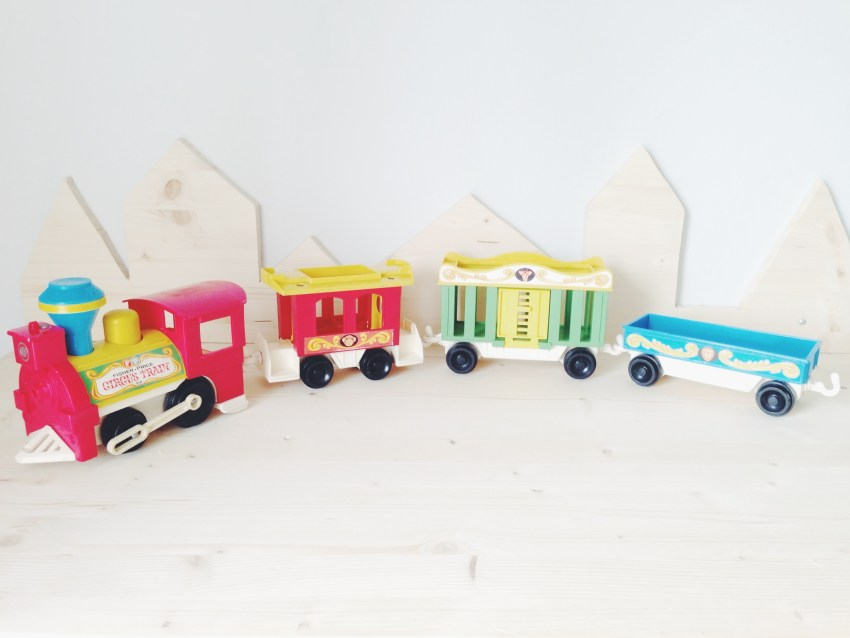 train vintage Fisher Price