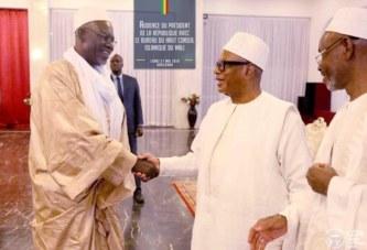 Salle des Banquets du Palais Présidentiel de Koulouba : Le Président de la République, reçoit le nouveau bureau du Haut Conseil Islamique du Mali