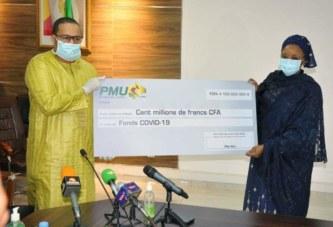 Fonds de solidarité pour la lutte contre le Covid-19 : La Société PMU-Mali offre 100 millions de F CFA