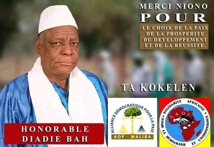 Législative à Niono : Operateur économique Diadié Bah élu dès le 1er tour avec 51,10%