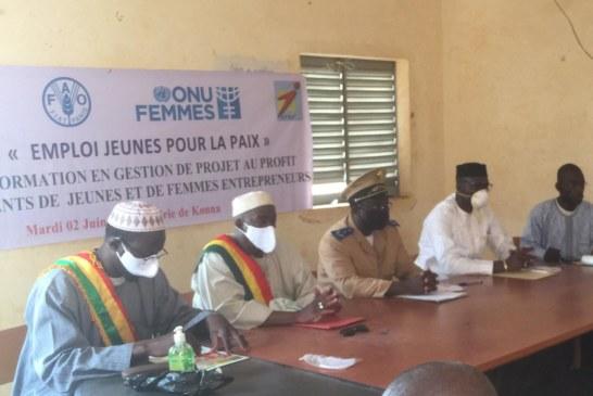 Projet Emploi-Jeune pour la Paix Mopti : L'APEJ organise une session de formation en gestion de projet des femmes et des jeunes