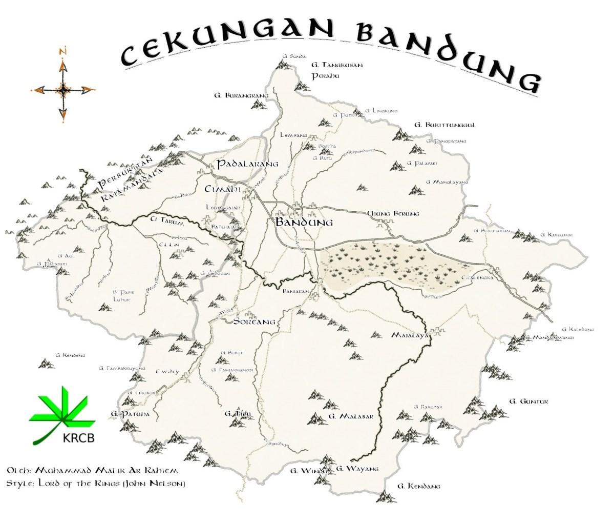 Cekungan Bandung ala Lord of the Rings