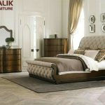 Malik Furniture Modern Wooden Double Bed Modern Double Bed