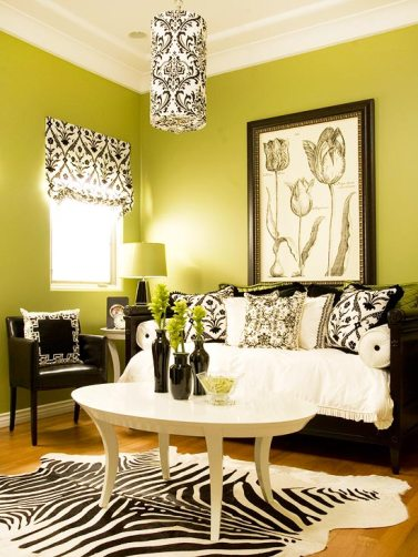 green-color-living-room