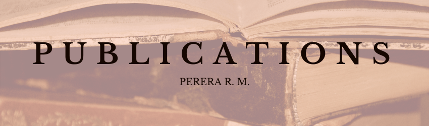 Publications - R. Malinga Perera