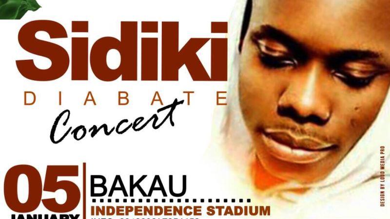 Sidiki Diabaté en concert le 05 Janvier 2018 en Gambie