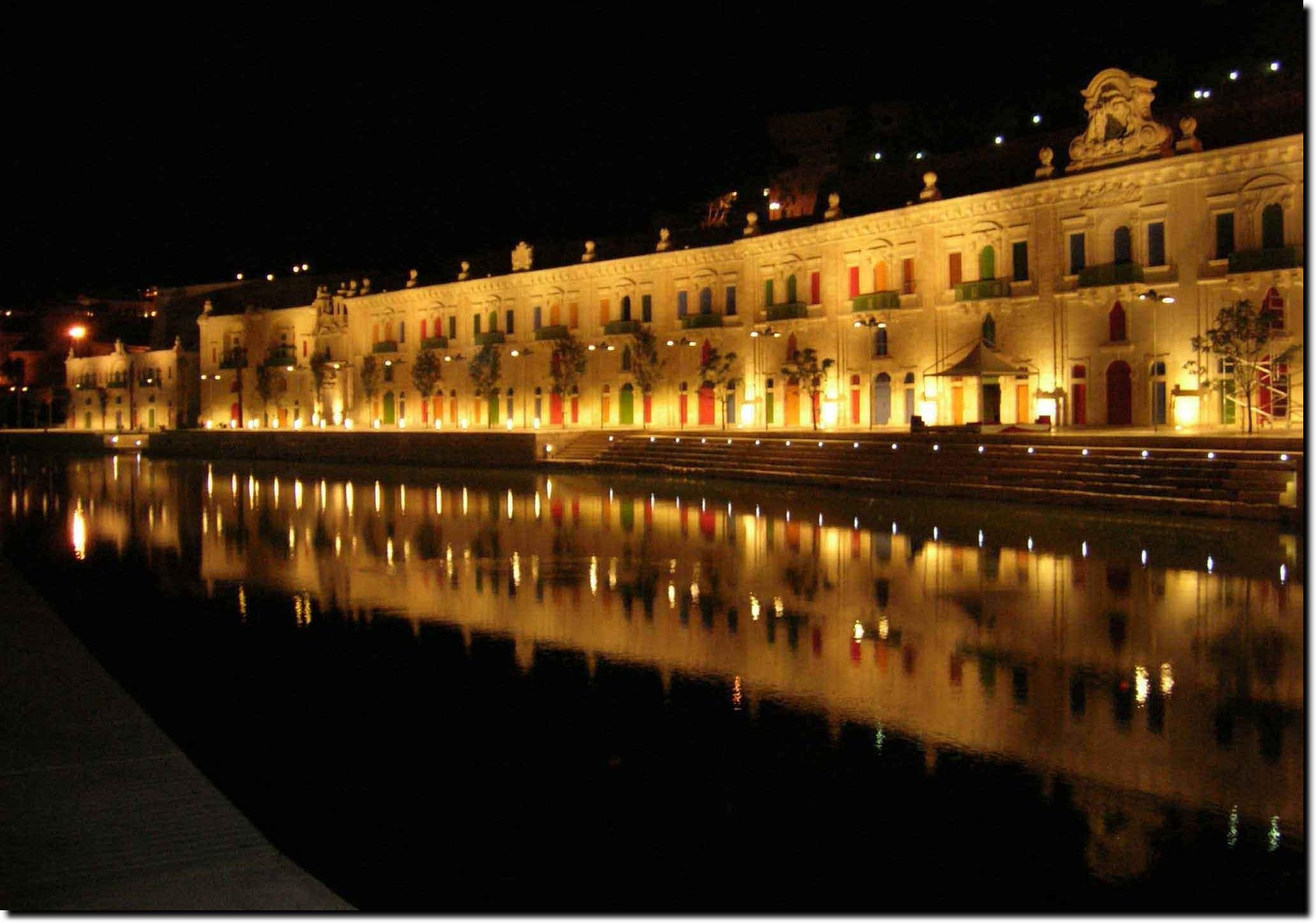 Valletta Waterfront at Night