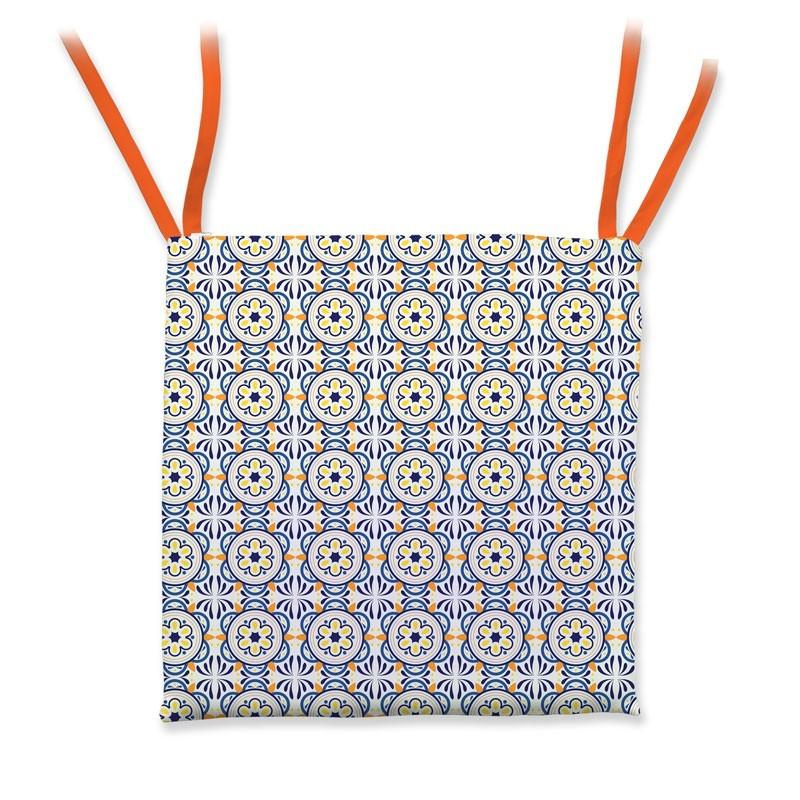 di cinzia di su pinterest. Cuscini Per Sedie Da Cucina Grafica Mosaico Con Decorazioni Blu Giallo E Arancio Kit Cuscini Coprisedia Da Cucina Modello Cuscino Quadrato